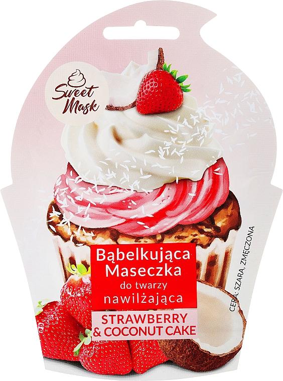 Masque bulles hydratant pour peaux ternes et fatiguées, Fraise et crème de noix de coco - Marion Sweet Mask Strawberry & Coconut Cream