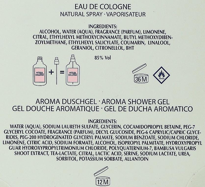 Maurer & Wirtz 4711 Aqua Colognia White Peach & Coriander - Coffret cadeau (col 170 ml + sh/gel 200 ml) — Photo N2