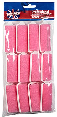 Bigoudis en mousse 25/70 mm, rose - Ronney Wave Foam Rollers
