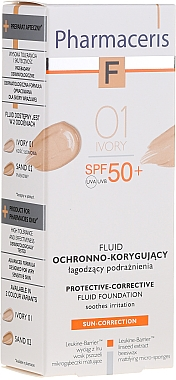 Fond de teint protecteur SPF 50 - Pharmaceris F Protective-Corrective Fluid Foundation SPF 50+