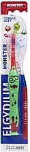 Parfums et Produits cosmétiques Brosse à dents pour enfant, souple, rouge - Elgydium Kids Monster Toothbrush
