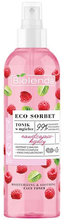 Lotion tonique en spray à l'extrait de framboise - Bielenda Eco Sorbet Moisturizing & Soothing Face Toner