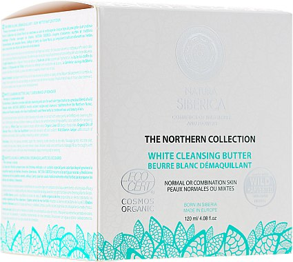 Beurre blanc démaquillant pour visage - Natura Siberica The Northern Collection White Cleansing Butter
