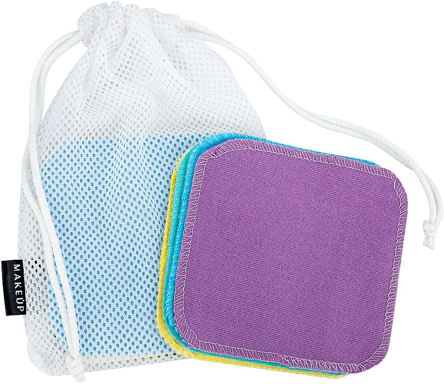 Éponges démaquillantes réutilisables dans un sac à linge - Makeup Remover Sponge Set Multicolour & Reusable