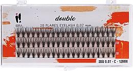 Parfums et Produits cosmétiques Faux-cils individuels, C 12 mm - Ibra 20 Flares Eyelash Knot Free Naturals