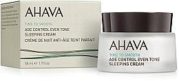 Parfums et Produits cosmétiques Crème de nuit au jus de feuilles d'aloès - Ahava Age Control Even Tone Sleeping Cream