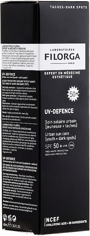 Crème solaire pour visage - Filorga Uv-Defence Sun Care SPF50+