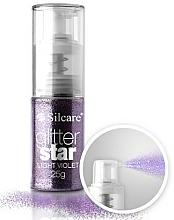 Parfums et Produits cosmétiques Paillettes en spray pour ongles, violet - Silcare Glitter Star