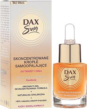 Autobronzant concentré en gouttes pour le visage et le corps - Dax Sun Self-tanning Concentrated Drops