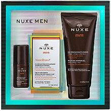 Parfums et Produits cosmétiques Nuxe Men Nuxellence - Coffret (contour des yeux/15ml + Fluide Anti-Âge/50ml + gel douche/200ml)