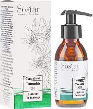 Parfums et Produits cosmétiques Huile de massage à l'extrait de chanvre pour corps - Sostar Cannabidiol Oil Cannabis Extract