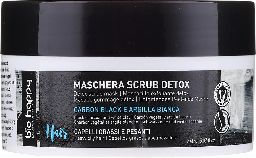 Masque-gommage au charbon et argile blanche pour cheveux - Bio Happy Carbon Black & White Clay Scrub Mask
