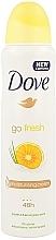 Parfums et Produits cosmétiques Déodorant spray au pamplemousse et citronnelle - Dove