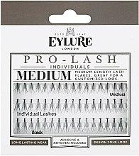 Parfums et Produits cosmétiques Faux-cils individuels medium avec colle et dissolvant - Eylure Black Individual Pro Medium Length Lashes