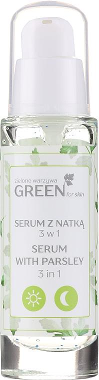 Sérum-gel-masque à l'extrait de persil pour visage et cou - Floslek Green For Skin Serum — Photo N1