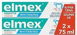 Parfums et Produits cosmétiques Elmex Blanchiment des dents professionnelles sensibles - Lot (dentifrice/2x75ml)