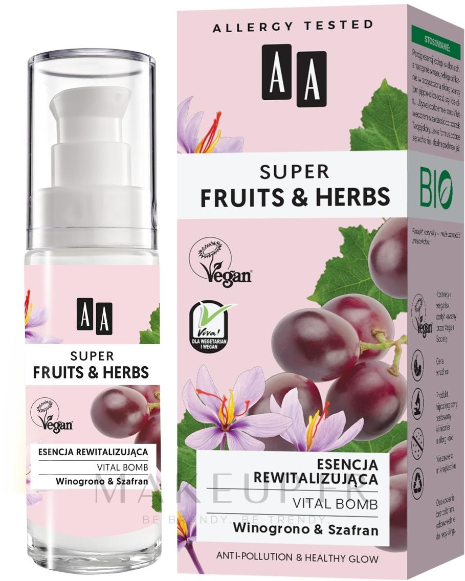 Essence au beurre de karité pour visage - AA Super Fruits & Herbs Vital Bomb — Photo 30 ml