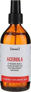 Essence visage d'agrumes à l'acide AHA, et l'acide hyaluronique - Iossi Acerola Essence