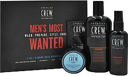 Parfums et Produits cosmétiques Coffret cadeau - American Crew Men's Most Wanted Strong Hold (shm/250ml + cr/50g + spray/100ml + balm/7.4ml)