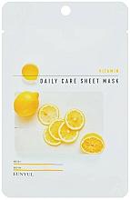 Parfums et Produits cosmétiques Masque tissu à la vitamine B5 et citron pour visage - Eunyu Daily Care Sheet Mask Vitamin