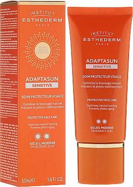 Soin protecteur pour visage, protection moyenne - Institut Esthederm Adaptasun Sensitive Protective Face Care — Photo N1