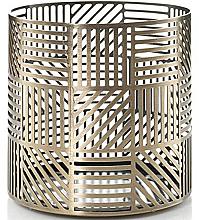Parfums et Produits cosmétiques Photophore pour bougie - Yankee Candle Crosshatch Brass Jar Holder