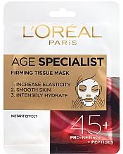 Parfums et Produits cosmétiques Masque tissu aux peptides pour visage - L'Oreal Paris Age Specialist 45+