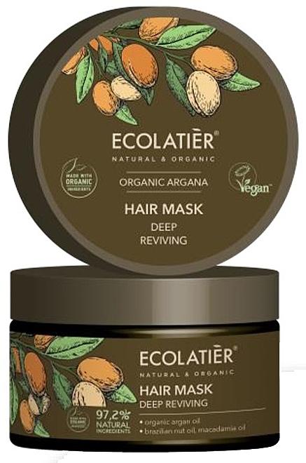Masque à l'huile d'argan bio pour cheveux - Ecolatier Organic Argana Hair Mask