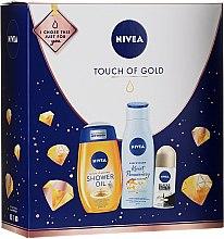 Parfums et Produits cosmétiques Nivea Touch of Gold - Set (huile de douche/200ml + baume corps/200ml + déodorant/50ml)