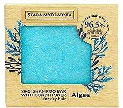 Parfums et Produits cosmétiques Shampooing et après-shampooing solide, Algue - Stara Mydlarnia Algae 2in1 Shampoo Bar