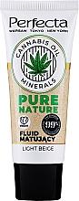 Parfums et Produits cosmétiques Fluide matifiant à l'huile de chanvre pour visage, cou et décolleté - Perfecta Pure Nature Cannabis Oil Mattifing Fluid