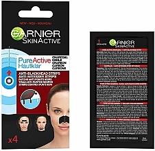 Parfums et Produits cosmétiques Patchs purifiants au charbon actif pour nez - Garnier Skin Active Pure Active Anti-Blackhead Charcoal Strips