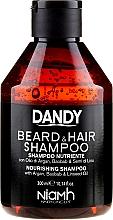 Parfums et Produits cosmétiques Shampooing à l'huile d'argan pour cheveux et barbe - Niamh Hairconcept Dandy Beard & Hair Shampoo