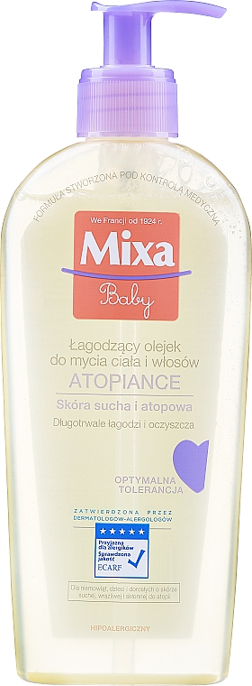 Huile lavante pour corps et cheveux - Mixa Baby Atopiance Soothing Cleansing Oil For Body & Hair