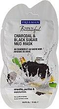 Parfums et Produits cosmétiques Masque de boue au charbon et sucre noir pour visage - Freeman Feeling Beautiful Charcoal & Black Sugar Mud Mask (mini)