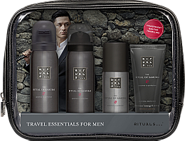 Parfums et Produits cosmétiques Coffret cadeau - Rituals The Ritual of Samurai Essentials Travel Set (foam/gel/50ml + sh/foam/50ml + cr/30ml + deo/50ml + bag)
