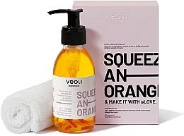 Parfums et Produits cosmétiques Veoli Botanica Squeeze An Orange - Set (huile pour visage/132,7g + serviette pour visage/1pc.)
