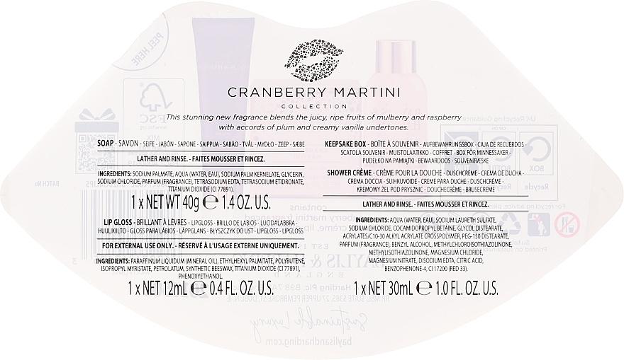 Coffret cadeau - Baylis & Harding Cranberry Martini Collection Lip Set Cherry (soap/40g + lip/gloss/12ml + sh/cr/30ml) — Photo N2