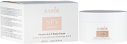 Parfums et Produits cosmétiques Crème raffermissante aux vitamines A, C et E pour corps - Babor Vitamin ACE Body Cream