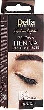 Parfums et Produits cosmétiques Gel henné pour sourcils, brun foncé - Delia Eyebrow Tint Gel ProColor 3.0 Dark Brown
