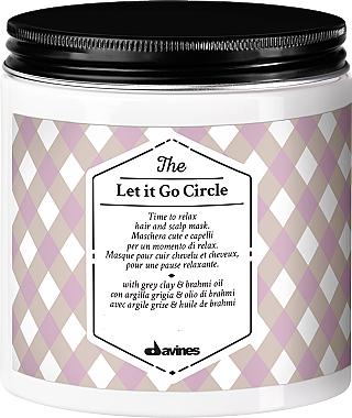Masque relaxant à l'argile grise et huile de brahmi pour cheveux - Davines The Let It Go Circle — Photo N1