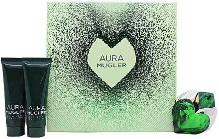 Thierry Mugler Aura Mugler - Coffret cadeau (eau de parfum/30ml + lait corporel/50ml + lait de douche/50ml)