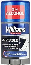 Parfums et Produits cosmétiques Déodorant stick sans alcool - Williams Expert Invisible Deodorant Stick