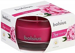 Parfums et Produits cosmétiques Bougie parfumée en verre, Pivoine, 50/80 mm - Bolsius True Scents Candle