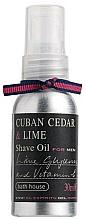 Parfums et Produits cosmétiques Bath House Cuban Cedar & Lime - Huile de rasage