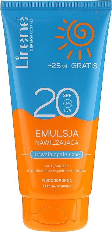 Émulsion solaire waterproof pour visage et corps - Lirene Sun Care Emulsion SPF20
