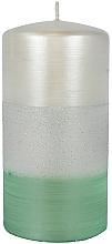 Parfums et Produits cosmétiques Bougie décorative, Atlas, 7x14cm, menthe - Artman Atlas Candle Mint