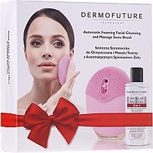 Parfums et Produits cosmétiques DermoFuture - Coffret (brosse de massage pour visage/1pcs + gel nettoyant micellaire/150ml)