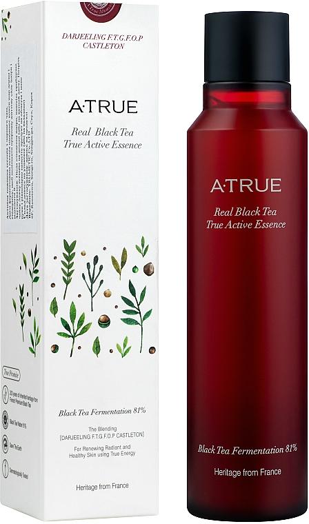 Essence active au thé noir pour visage - A-True Real Black Tea True Active Essence — Photo N1
