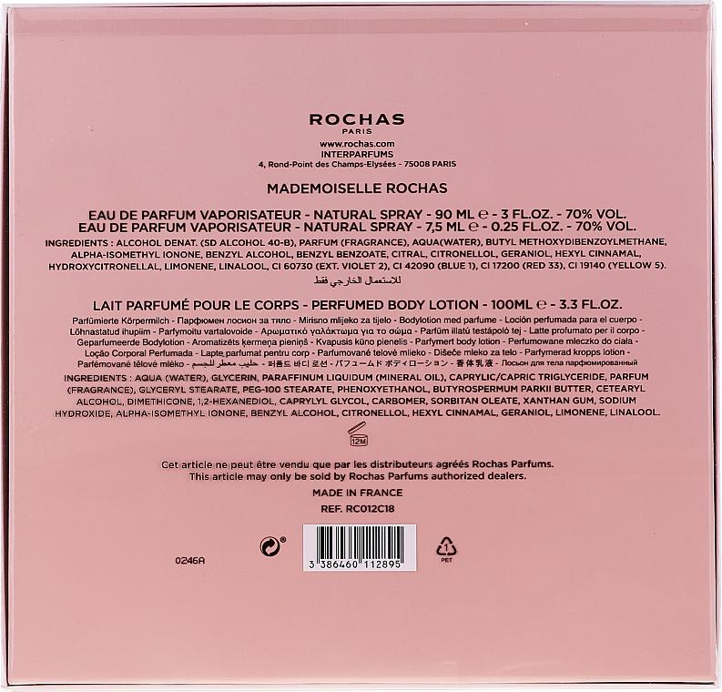 Rochas Mademoiselle Rochas - Coffret (eau de parfum/90ml + lait corporel/100ml + eau de parfum/7.5ml) — Photo N6